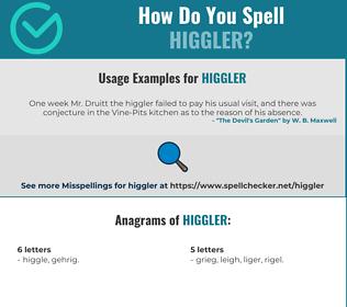 Correct spelling for Higgler