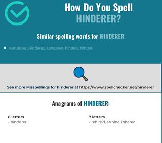 Correct spelling for Hinderer
