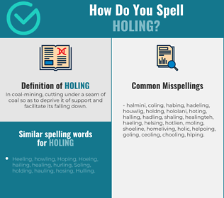 Correct spelling for Holing