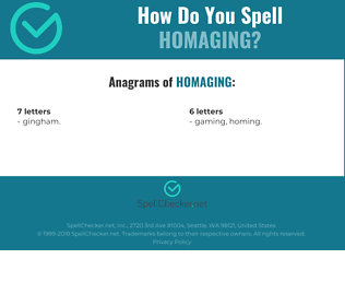 Correct spelling for Homaging