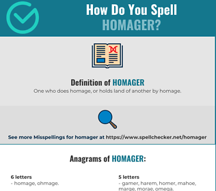 Correct spelling for Homager