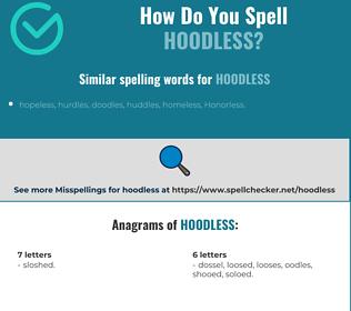 Correct spelling for Hoodless