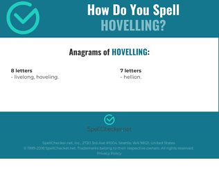 Correct spelling for Hovelling