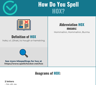 Correct spelling for Hox