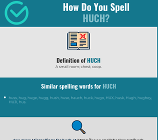Correct spelling for Huch