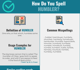 Correct spelling for Humbler