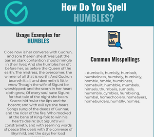 Correct spelling for Humbles