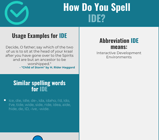 Correct spelling for Ide