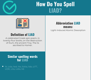 Correct spelling for liad