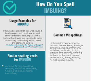 Correct spelling for Imbuing