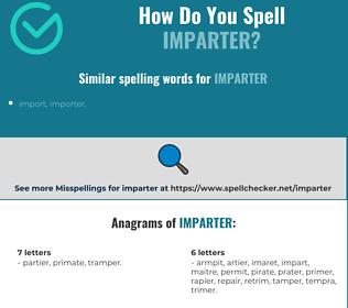 Correct spelling for Imparter
