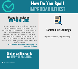 Correct spelling for Improbabilities