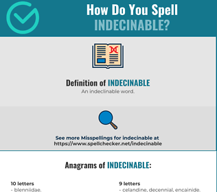 Correct spelling for Indecinable