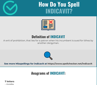 Correct spelling for Indicavit