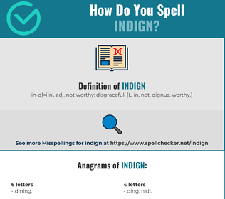 Correct spelling for Indign