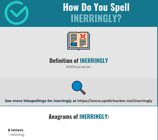 Correct spelling for Inerringly