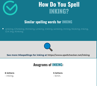 Correct spelling for Inking