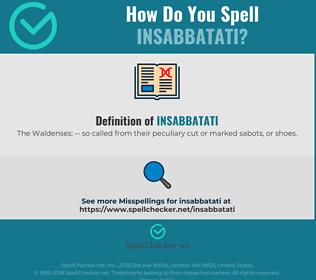 Correct spelling for Insabbatati