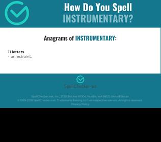 Correct spelling for Instrumentary