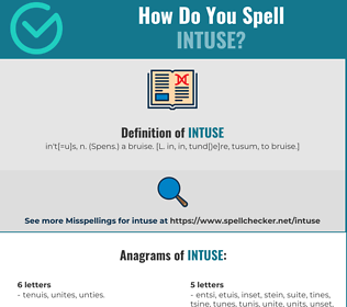 Correct spelling for Intuse