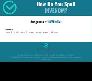 Correct spelling for Invenom