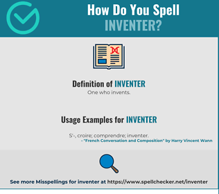 Correct spelling for Inventer
