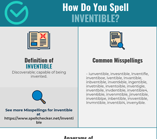 Correct spelling for Inventible