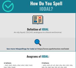 Correct spelling for Iodal