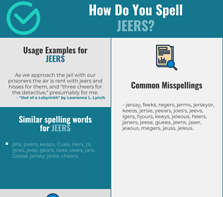 Correct spelling for Jeers