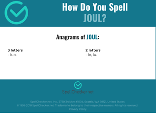 Correct spelling for Joul