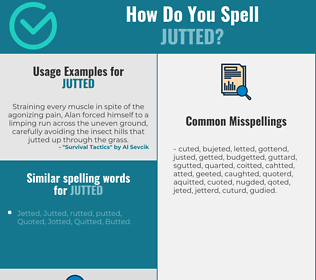 Correct spelling for Jutted
