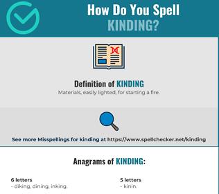 Correct spelling for Kinding