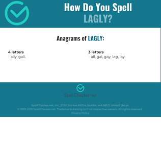 Correct spelling for Lagly