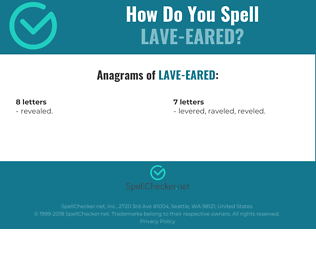 Correct spelling for Lave-eared