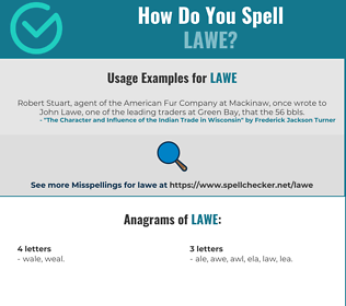 Correct spelling for Lawe