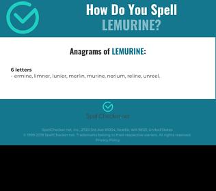 Correct spelling for Lemurine
