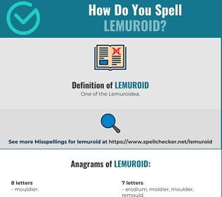 Correct spelling for Lemuroid