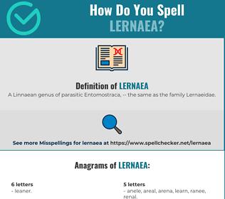 Correct spelling for Lernaea