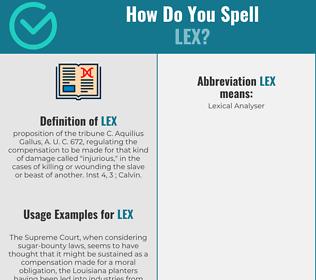 Correct spelling for Lex