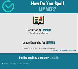 Correct spelling for Limmer