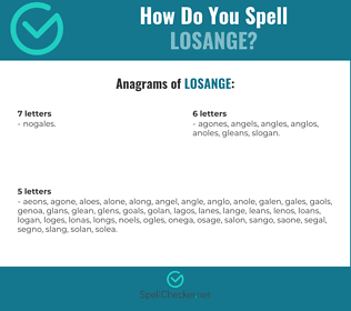 Correct spelling for Losange