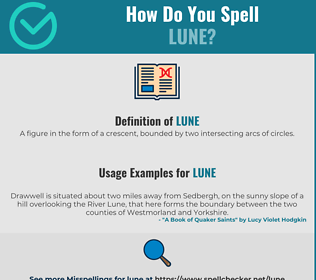 Correct spelling for Lune