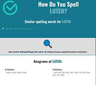 Correct spelling for Luter