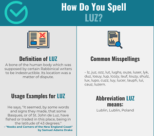 Correct spelling for Luz