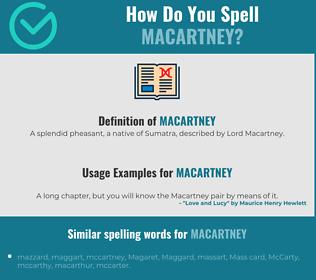 Correct spelling for Macartney