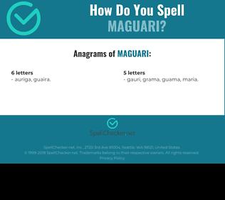 Correct spelling for Maguari