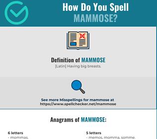 Correct spelling for Mammose [Infographic] | Spellchecker net