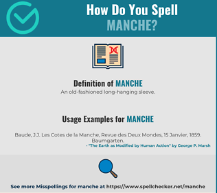 Correct spelling for Manche