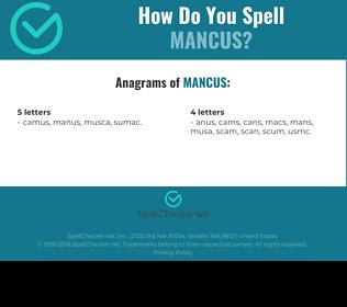 Correct spelling for Mancus