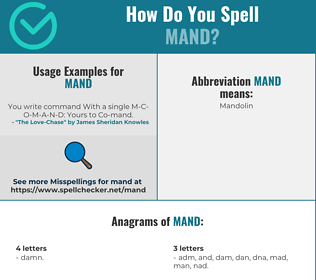 Correct spelling for Mand